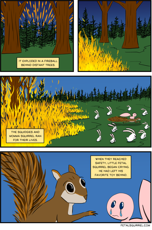 A Squirrel is Born — Forest Fireball